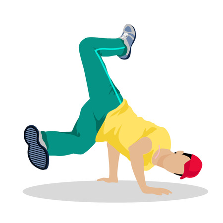 Street Dance Concept Flat Design. Hip Hop, Break. Illustration