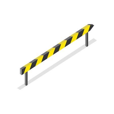 hazard stripes: Road Construction, Roadblock Sign Illustration