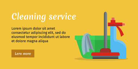 carpet cleaning service: Cleaning Service Banner Illustration