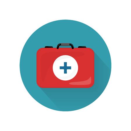 emergency medical: Medical Kit Icon Isolated. Realistic Emergency Bag Illustration
