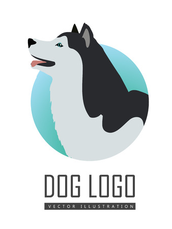 alaskan malamute: Dog Logo Vector Husky or Alaskan Malamute Isolated