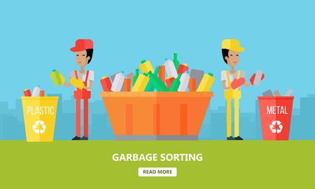 Garbage Sorting. Website Design Template