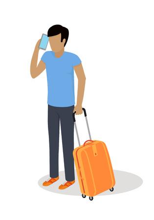Traveler Character Isometric Vector Icon Illustration