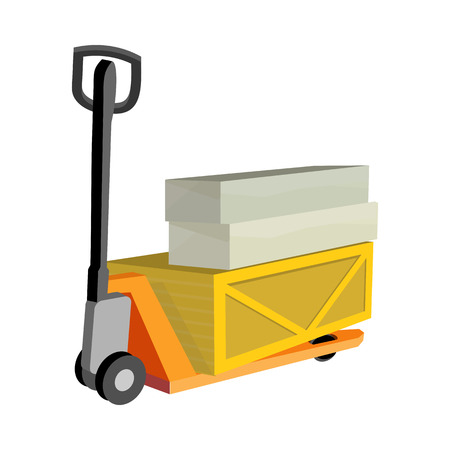 oversized: Transportation Oversized and Heavy Goods Illustration