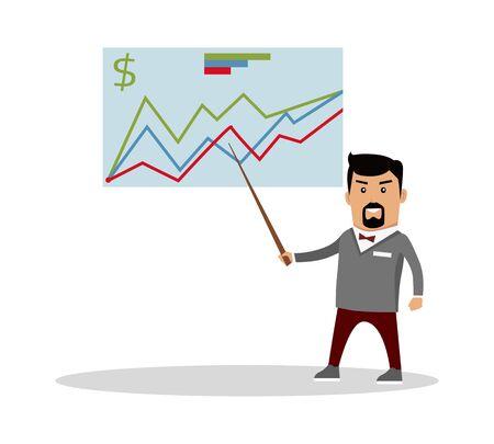 economic forecast: Financial Forecast Concept Vector Illustration