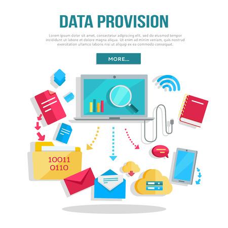 provision: Data Provision Banner Illustration
