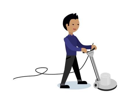 Floor Cleaning Vector Concept Vector In Flat Style