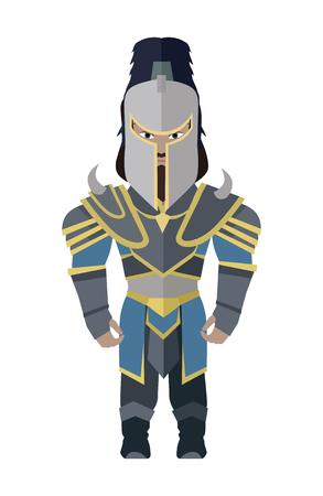 Fantasy Knight Character Vector Illustration.