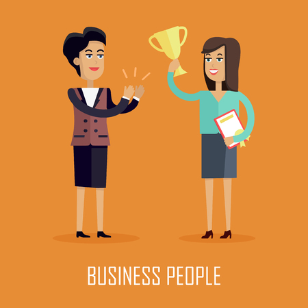 Business People Concept Vector in Flat Design. Illustration