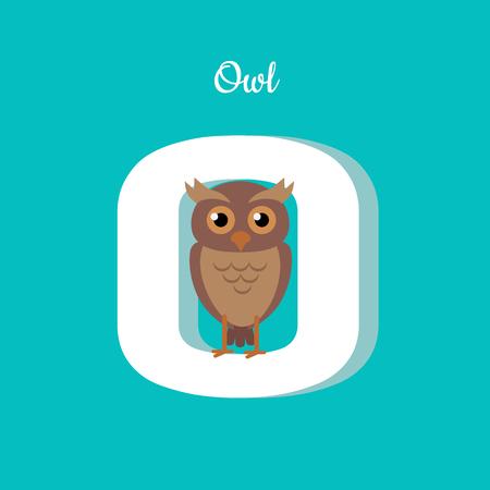 naming: Animal Alphabet Concept in Flat Design