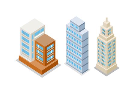 apartment buildings: Set of Modern Apartment Buildings