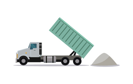 Heavy Construction Tipper With Raised Container Illustration