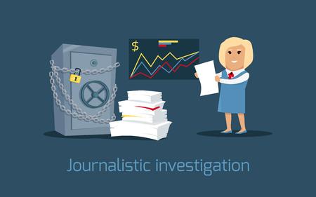 journalistic: Journalistic Investigation Concept Vector Illustration
