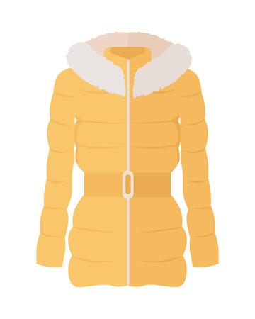 Vrouw Down Jacket Flat Style Vector Illustratie Vector Illustratie