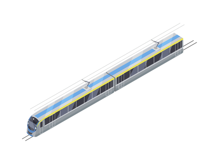 high speed train: Speed train Vector Icon in Isometric Projection