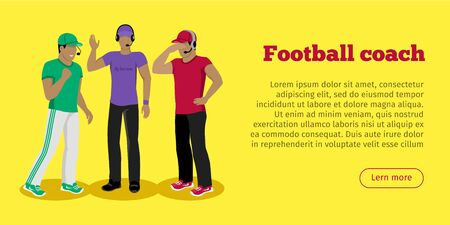 judge players: Football Coaches Web Banner Cartoon Soccer Referee