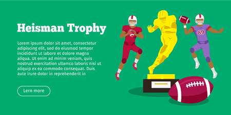 Heisman Trophy and American Football Players Stock Photo