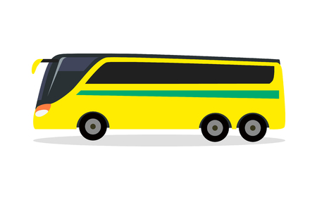 Big Yellow Bus for Transporting Football Team