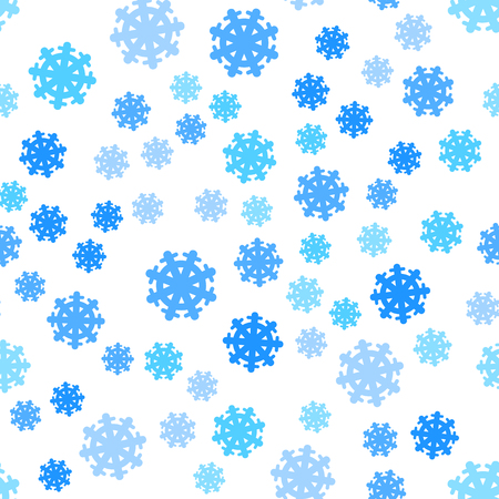 Seamless Pattern Snowflakes Endless Background.