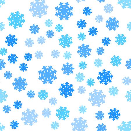 endless: Seamless Pattern Snowflakes Endless Background.