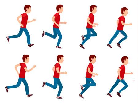 sprite: Running Man Animation Sprite Set. 8 Frame Loop.