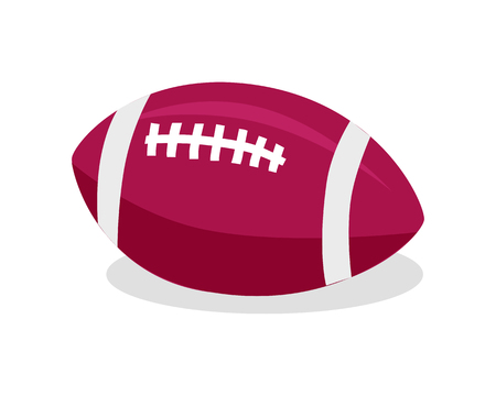 American Football. Red Soccer Ball. Sport Game Illustration