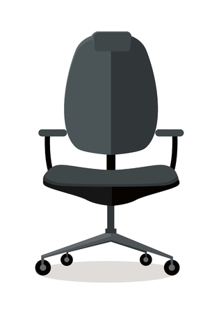 piece of furniture: Office Chair Icon Symbol Isolated on White.