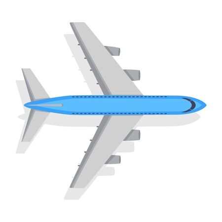 public transfer: Plane Icon on White Background. Transport