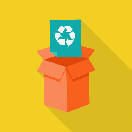 recycling: Waste Recycling Icon Illustration