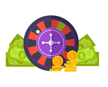 Gambling Concept Illustration Flat Design. Illustration