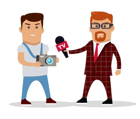 Media Workers Characters Illustration