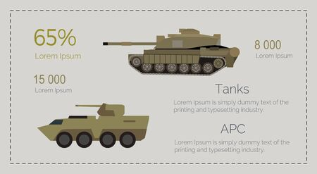 Armored Tank Forces Flat Style Infographics