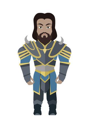 mediaeval: warrior Illustration.