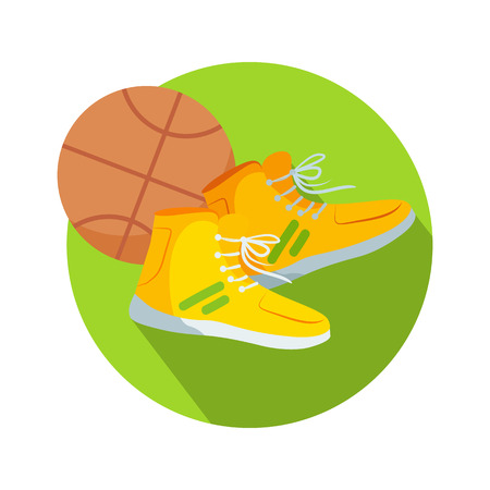 Soccer Boots and Ball Web Button Basketball Illustration
