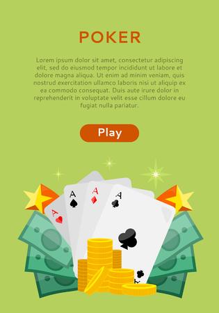 Pocker Jeux en ligne Dice Casino Banners Set