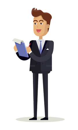 Man Character Vector Illustration in Flat Design