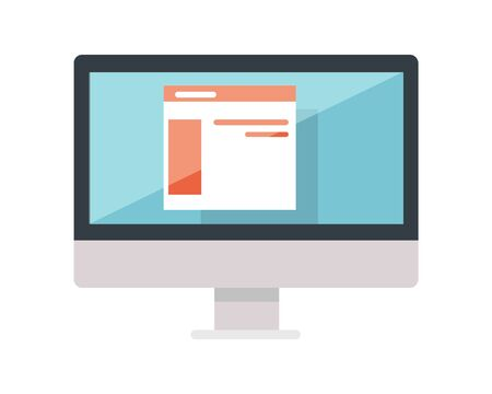 web site: Web Design of Site on the Monitor Display Isolated