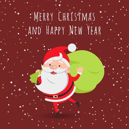 bagful: Merry Christmas and Happy New Year. Santa Claus