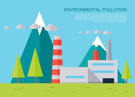 Environmental Pollution Concept Vector Banner.