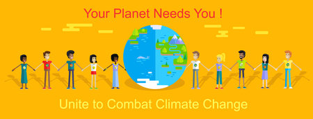 activist: Saving Planet Earth Vector Concept in Flat Design.