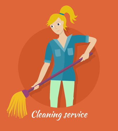 Cleaning Service Banner Illustration