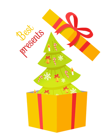 Best Presents Christmas Tree on White Background