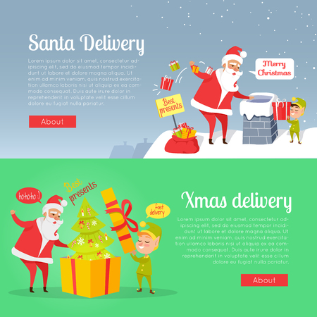 Best Presents of Santa Xmas Delivery on Postcard