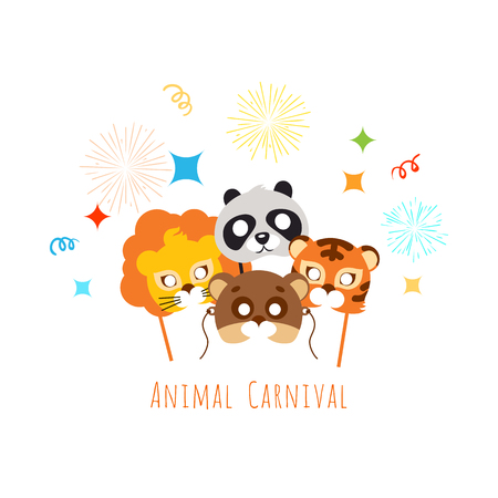 role play: Funny Childish Animal Masks for Animal Carnival