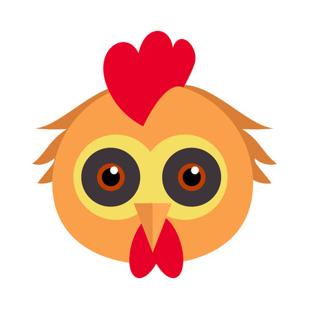 Cock Bird Carnival Mask. Rooster Chicken Hen Fowl.