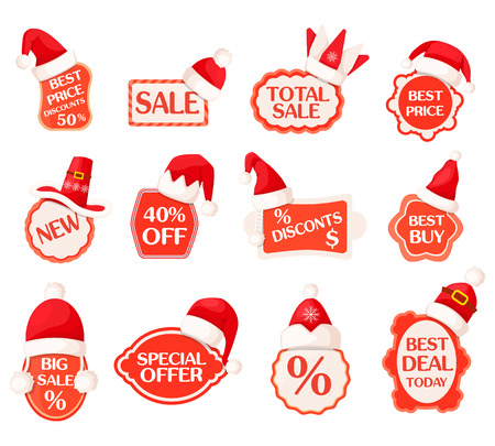 Sale and Discounts Labels with Percents Collection