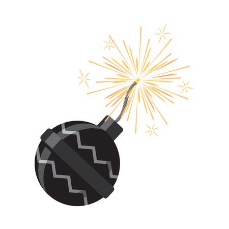 banger: Set of Fireworks. Pyrotechnic Devices for Festival Illustration