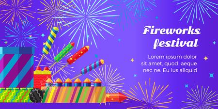 banger: Organization of Fireworks Festival. Pyrotechnic Set