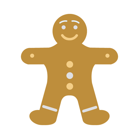 man made: New Year Decorated Gingerbread in Shape of Man Illustration