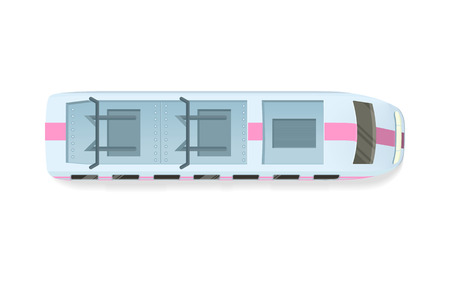 passenger transportation: Tramway or Speed Train Top View Vector Icon
